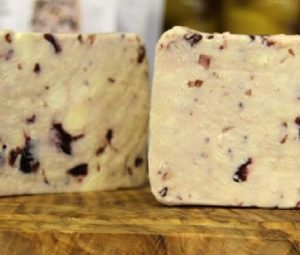 Coombe Castle Wensleydale with Cranberries detail